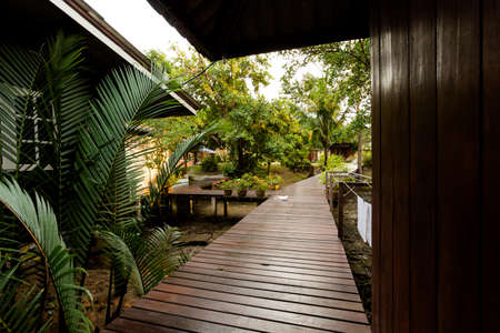 Touristic resort on tropical koh Kood island in Thailand. Local accomodation taken on Klong Chao area.