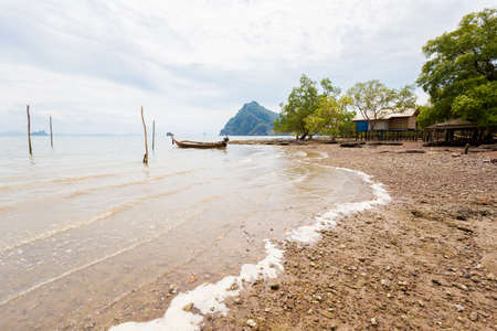 Summer landscape on tropical koh Lanta Noi in Thailand. Seascape taken on uninhabited part of the island.