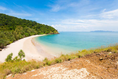Summer seascape on tropical koh Lanta island in Thailand. Landscape taken in national park on Ta Naoad beach.