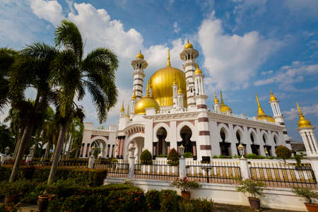 Beautiful architecture of Ubudiah mosque in Kuala Kangsar city in Malaysia. Sacral buildings in south east Asia. 写真素材