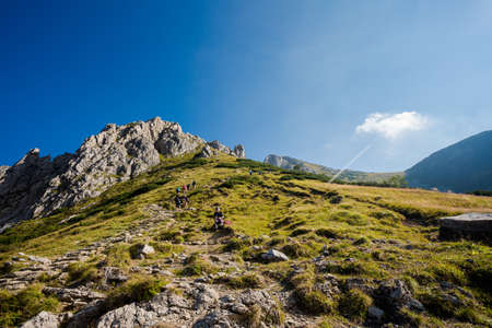 Beautiful panorama in Tatry mountains on the path to Giewont