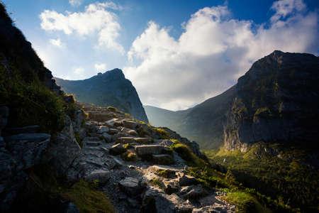 Beautiful panorama in Tatry mountains on the path to Giewont Zdjęcie Seryjne