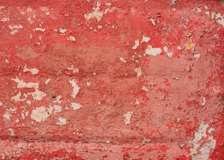Good red texture of old damaged and cracked metal surface