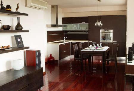 Luxury interior design in apartment photo