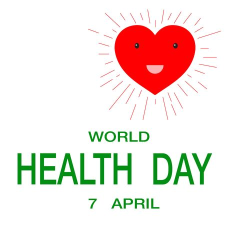 Vector illustration for World Health Day campaigns. It can be used for posters, web banners, backgrounds, signs, symbols, badge, icon, and promotions.