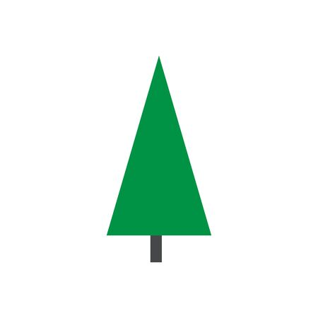 Tree icon. Nature symbol in flat design. Green forest plants. Cartoon illustration. Collection of design elements.Can be used to illustrate any nature or healthy lifestyle topic