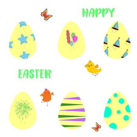 Easter vector template for Resurrection Sunday holiday.Hand drawn.Spring concept. Spring Easter card for design card, banner,ticket, leaflet and so on.