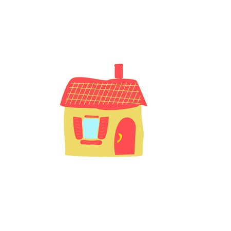 Cartoon residential home. New family cartoon house in modern style Illustration