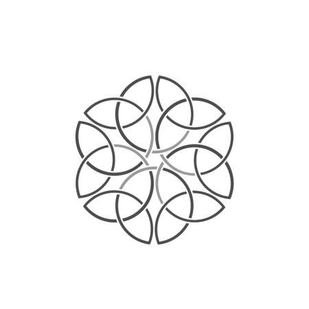 Traditional medieval Celtic knot.Scandinanavian decor.Great concept for any purposes.
