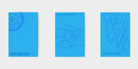 Technology or modern abstract composition.Minimal vector brochure templates Foto de archivo - 150449284