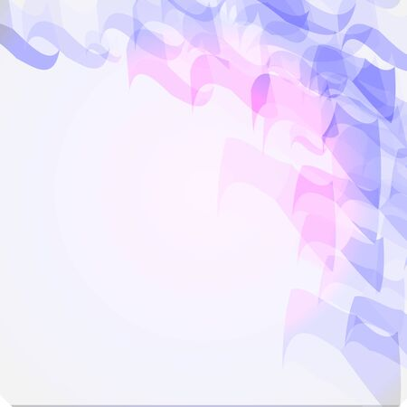 Abstract geometric shape from purple and blue cubes. Vector background can be used in cover design Ilustración de vector