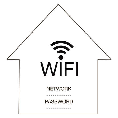 WiFi sign for design symbol free wifi in home or cafe, restauran Vectores