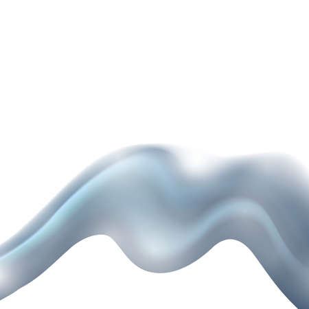 Abstract elegant smooth design background with light blue and white wavy lines in dynamic soft style. Vector illustration Ilustração