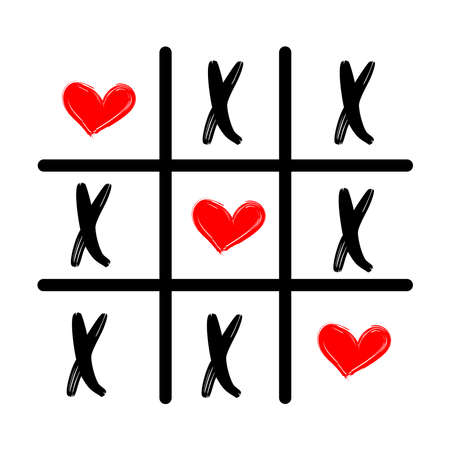 Tic tac toe XO icon. Concept for your design.