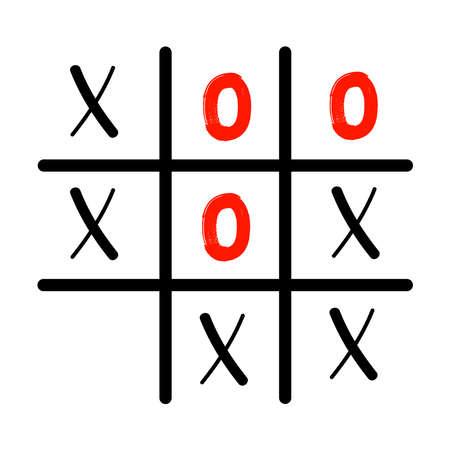 Tic tac toe XO icon. Concept for your design. Vector Illustratie
