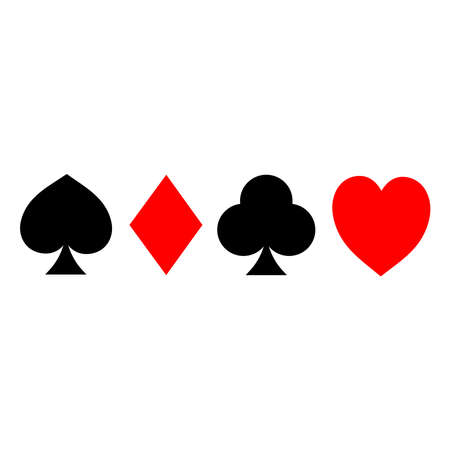Vector Playing Cards. Vector illustration symbols isolated on white background