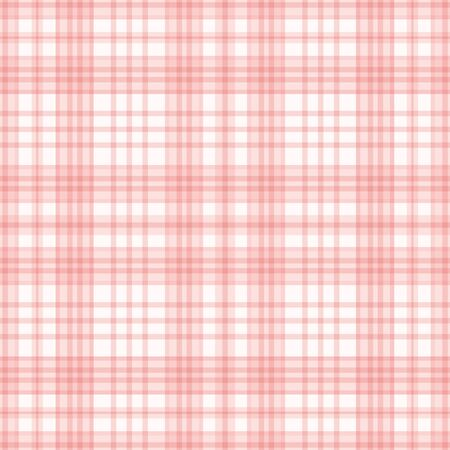 Checked seamless pattern in pink and white . A Sweet geometric plaid vector pattern design. Ilustrace