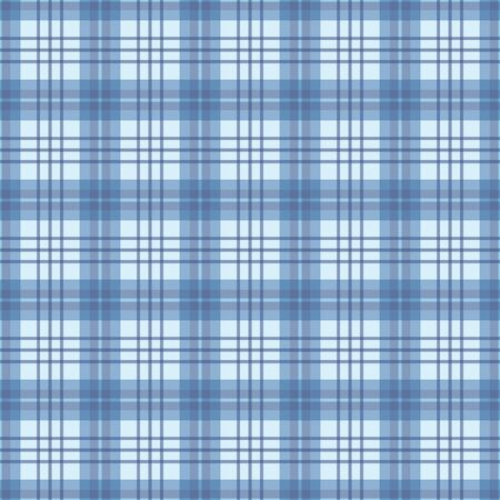 Checked seamless pattern in blue and white. A geometric plaid vector pattern design.