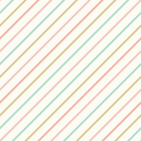 Diagonal stripes pattern background. Pastel lined seamless repeat design. Vector Illustratie