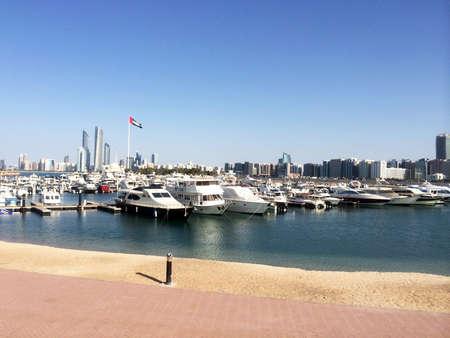 Abu Dhabi skyline from the marina