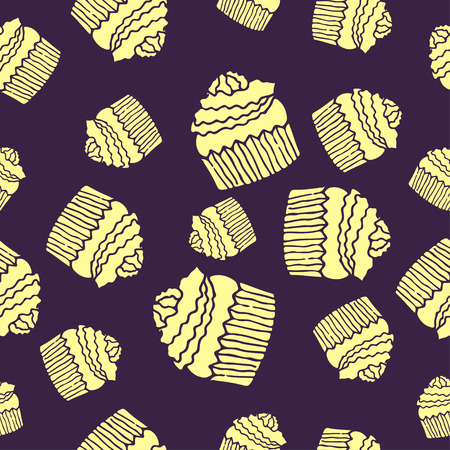 purple cake pattern seamless Illustration