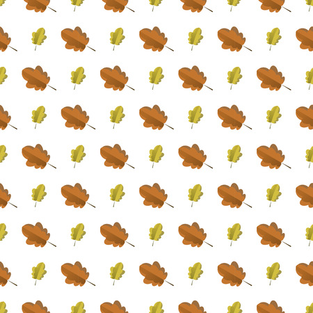 Seamless pattern with colorful autumn leaves. Vector illustration. Pattern with leaf
