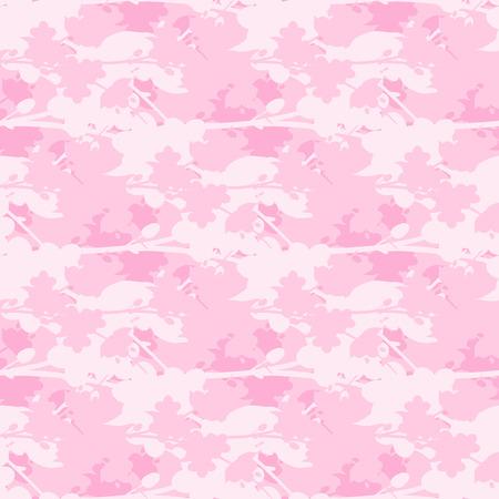 Abstract eamless sakura blossom pattern. Japanise background. Vector illustration.