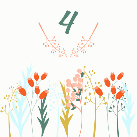 Advent calendar. Christmas calendar. Vector illustration. Countdown to Christmas 4 Illustration
