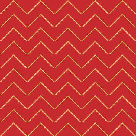 Gold geometric seamless pattern. Vector illustration.