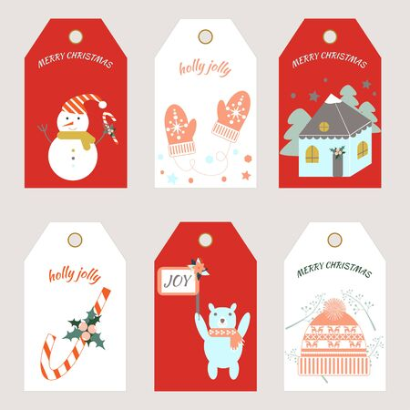 Christmas tags. Vector illustration. Tags template.