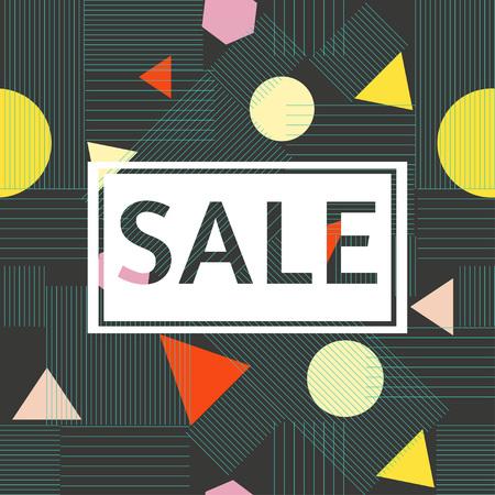 Abstract composition in bright colors. Modern design sale poster, flyer, brochure design. Sale background. Big sale. Sale tag. Sale poster. Sale vector. Super Sale.