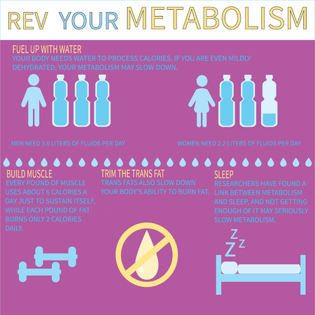 There are other ways to improve your metabolism. Metabolism infographic. Stock Vector - 71190786
