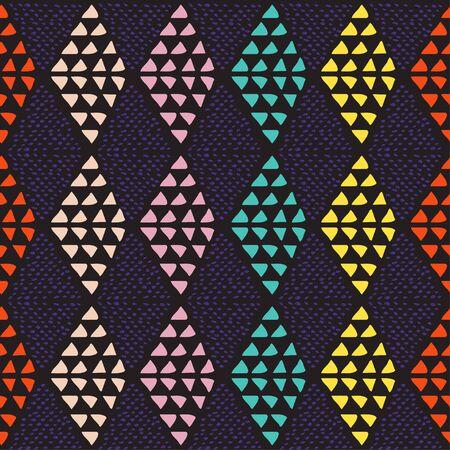 Geometric seamless pattern. Hand drawn elements.Vector illustration. Illustration