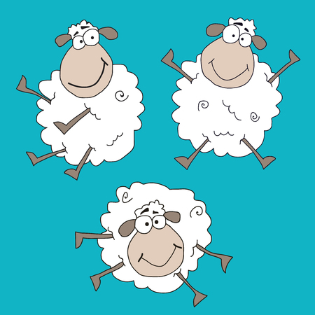 sheeps: Funny crazy sheeps Illustration