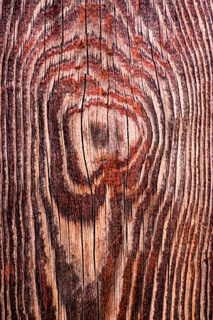 Brown scratched wooden cutting board. Stock Photo