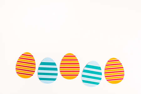 Postcard with eggs isolated on white