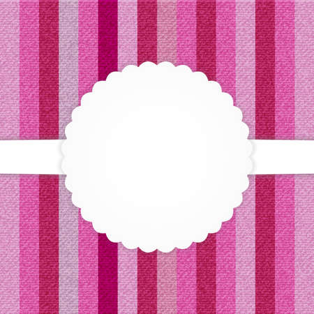 Illustration of pink vertical stripped jeans card Vector