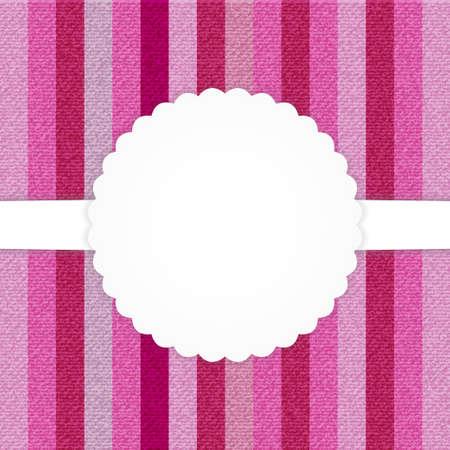 strippad: Illustration of pink vertical stripped jeans card Illustration