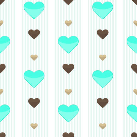 stripped: Seamless heart stripped pattern