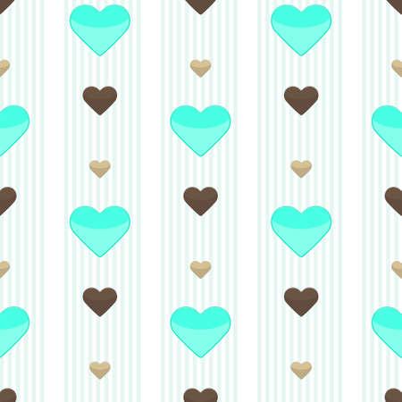 strippad: Seamless heart stripped pattern