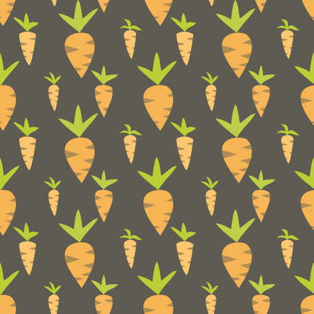 Illustration of Easter carrots seamless texture Vector