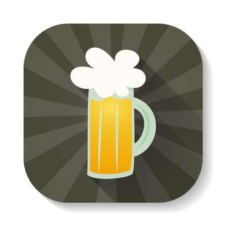 Illustration of St Patrick Day glass beer mug icon Vector