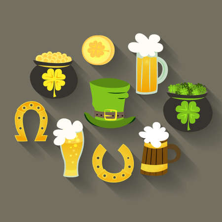 Illustration of St Patrick Day icons Vector