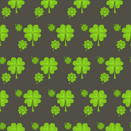 Illustration of St Patrick Day clover seamless pattern Vector
