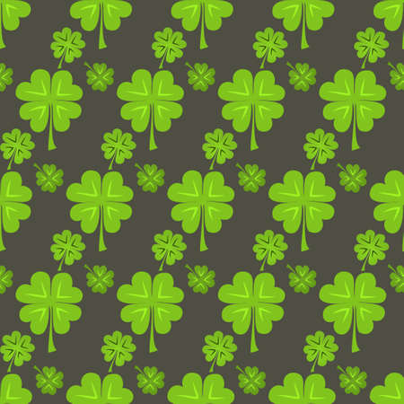Illustration of St Patrick Day green clover seamless pattern Vector