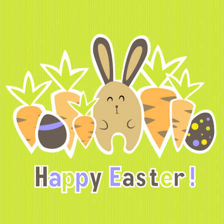 Illustration of Easter colorful green card template Vector