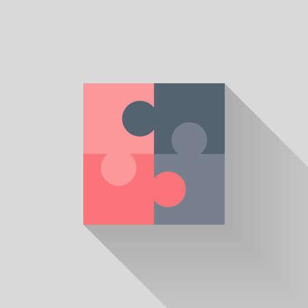 puzzle set: Illustration of Puzzle Flat icon