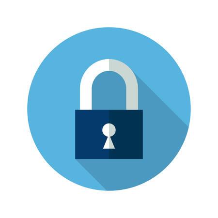 malware: Illustration of Blue closed padlock icon Illustration