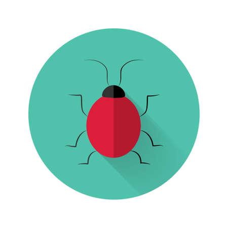 menace: Illustration of Red bug icon over green Illustration