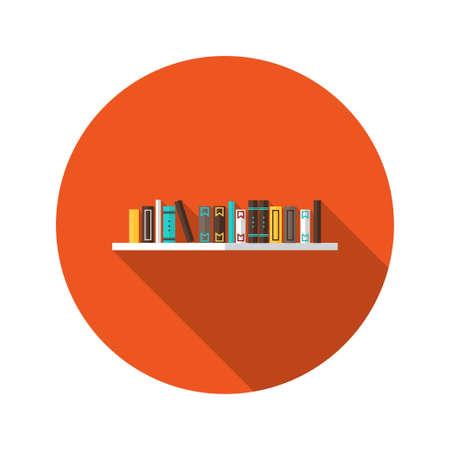 shelve: Illustration of Book Shelve flat icon Illustration